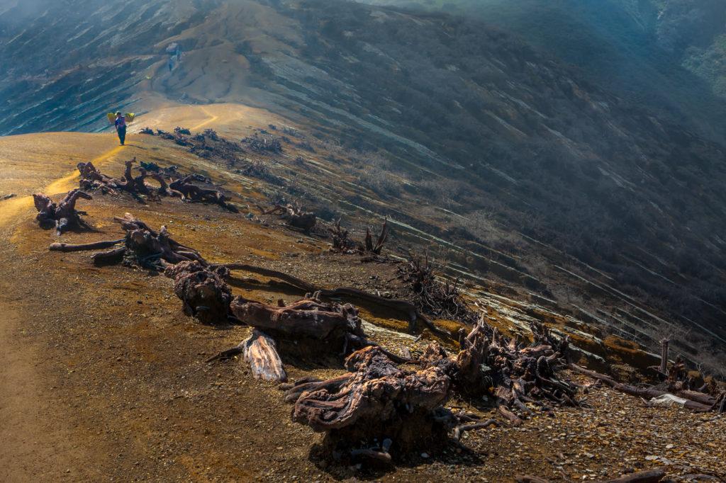 Sulfur miner, Kawah Ijen Volcano